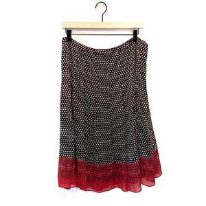 Anne Klein Printed Pleated A-Line Skirt